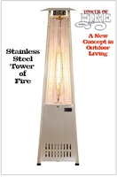 PATIO HEATERS and MISTERS TOWER OF FIRE - PATIO HEATER * BEST MODEL