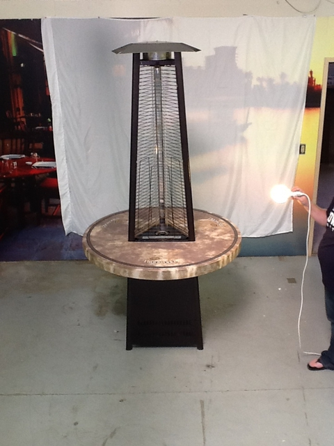 PATIO HEATERS. LOADING IMAGES. TOWER OF FIRE TABLE