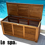 TEAK FURNITURE-MATS-TILES Teak Storage Box, Air-venting Design, oiled