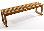 TEAK FURNITURE-MATS-TILES Le spa  Backless Stool 59inch, oiled finish