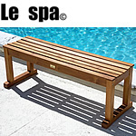 TEAK FURNITURE-MATS-TILES Le spa Stool 47.25inch (120cm), oiled