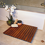 TEAK FURNITURE-MATS-TILES Le spa Teak Floor Mat 19.7inch(50cm) SQ, oiled