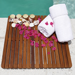 TEAK FURNITURE-MATS-TILES Le spa Teak Floor Mat 24inch SQ-open, oiled