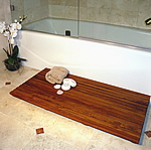 TEAK FURNITURE-MATS-TILES Le spa Teak Floor Mat, op. oiled