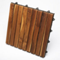 TEAK FURNITURE-MATS-TILES Le click EXCLUSIVE, Box of 10 Tiles, oiled