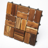 TEAK FURNITURE-MATS-TILES Le click FLEX - Box of 10 Tiles, oiled